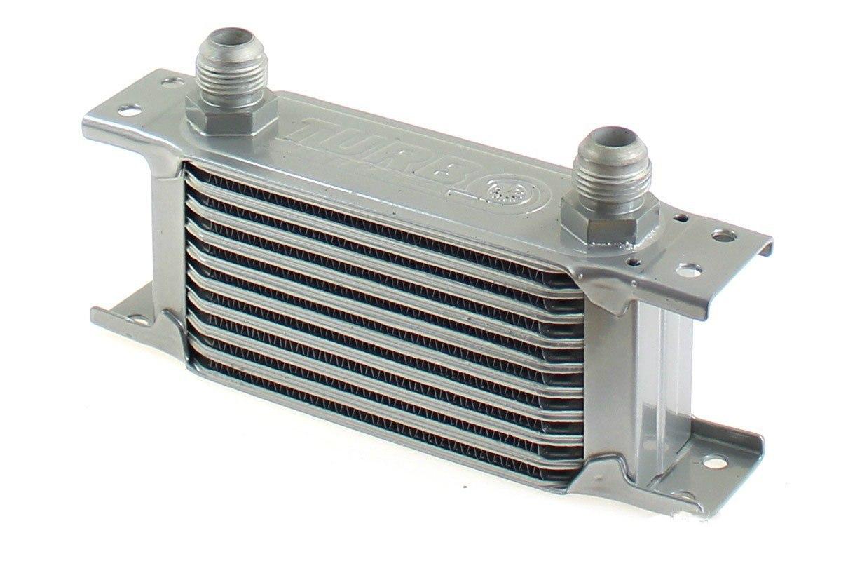 Chłodnica Oleju TurboWorks Slim Line 10-rzędowa 140x75x50 AN10 silver - GRUBYGARAGE - Sklep Tuningowy